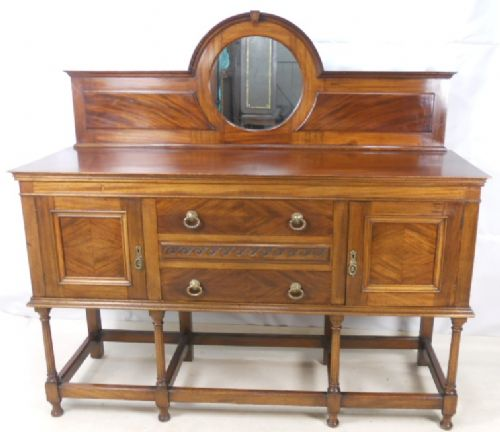 Large Mahogany Sideboard with Mirrorback